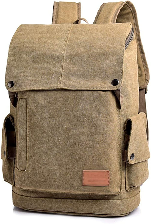 e7363dd4d Men's Backpack Business Bag Leisure Bag School Bag Laptop Bag Travel Bag,  Men's Casual Men's Fashion Trend Men's Students JINRONG (color Khaki) Bag  Canvas ...