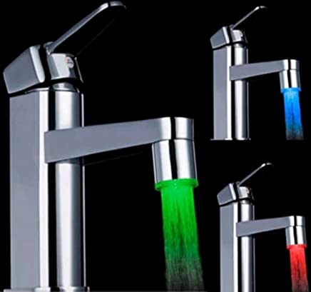 7 Colour Changing Glow Shower Stream LED Light Water Faucet Tap (Multicolour)