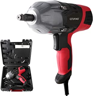 GETUPOWER 120 Volt Electric Impact Wrench 1/2 inch, 350 Ft.lbs Max Torque, Portable Impact Wrench Gun Corded with Sockets and Carry Case