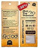 Gamuza Microfibra Antivaho para Gafas con 300 usos, Ideales para Personas con Gafas Que Llevan Mascarilla, Toallitas Antivaho Gafas , Antivaho Gafas, Toallitas Gafas Antivaho 12 Horas de Efecto.