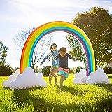 ZHANGXJ Giardino Grande Spruzzo d'Acqua Gonfiabile Rainbow Arch Tappeto Gioco d'Acqua per Bambini Tappettino Spruzzo d'Acqua Gonfiabile Piscina All'aperto Giocattoli Gioco da Giardino .Estate
