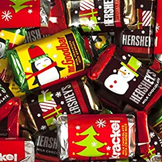Bulk Christmas Candy - Hershey's Miniatures Chocolate (3lb) - Milk Chocolate Mr. Goodbars, Hershey's Special Dark, and Krackel - Approx 150pcs