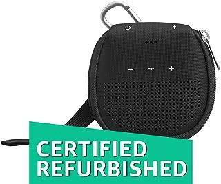 (Renewed) AmazonBasics Speaker Cover with Kickstand (for Bose SoundLink Micro Bluetooth Speaker) - Black