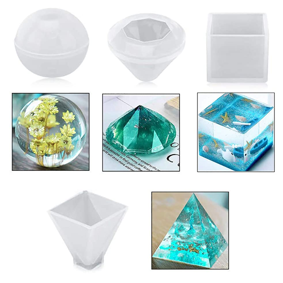 Resin Molds Resin Silicone Molds Epoxy Resin Mold Resin Mold Perfect for DIY Gift 4 Pack