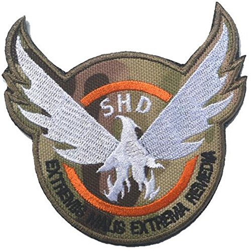 Kingnew Die Division SHD Runde Airsoft Paintball PVC Moral Team Patch Camo Gestickte Airsoft Patch