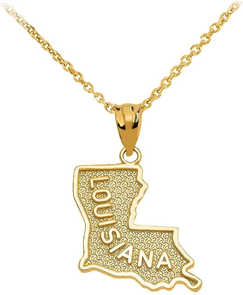 Louisiana State Quarter Necklace
