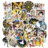 50Pcs Cartoon Anime Saint Seiya Militant Style Toy Stickers for Motorcycle Skateboard Laptop Bicycle Trunk Backpack