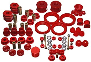 Energy Suspension 418125R Bushings - Suspension Bushing Kit; Hyper-Flex System; Incl. Front Control Arm Bushing; Rear Leaf Spring Bushings; Front S
