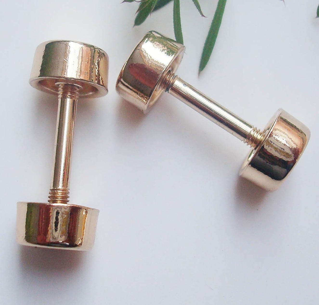 4pcs DIY bag buckle wheel buckle Leathercraft Rivets screws for handbag,handbag repair sewing metalware barbell buckle garment accessories (20mm, gold)
