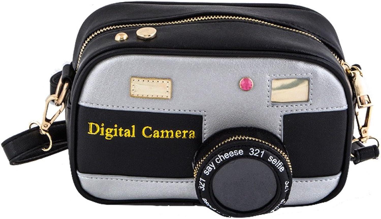 3D Camera Vegan Leather Crossbody Shoulder Swing Bag