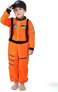 Tacobear Disfraz Astronauta Niño Juego de Roles para Astronauta para Cosplay Astronauta Disfraz Niños con NASA Gorra