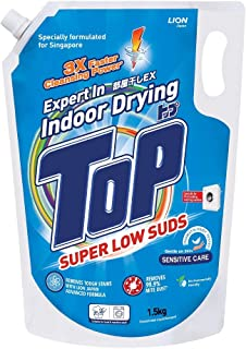 Top Concentrated Liquid Detergent Super Low Sud Sensitive Care, 1.5kg Refill