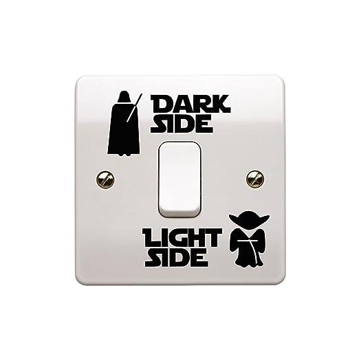 2x Light Side Dark Side Light Switch Vinyl Decal Sticker Child Room Lightswitch Wall Art Vader Yoda Waymeduo