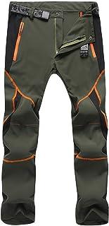 LUI SUI Hombres Softshell Fleece C/álido Senderismo Pantalones a Prueba de Viento al Aire Libre Senderismo Escalada Esqu/í Pantalones de Nieve