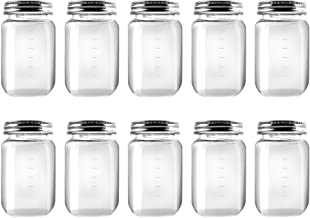 Novelinks 16 Ounce Clear Plastic Jars Containers With Screw On Lids - Refillable Round Empty Plastic Slime Storage Contain...