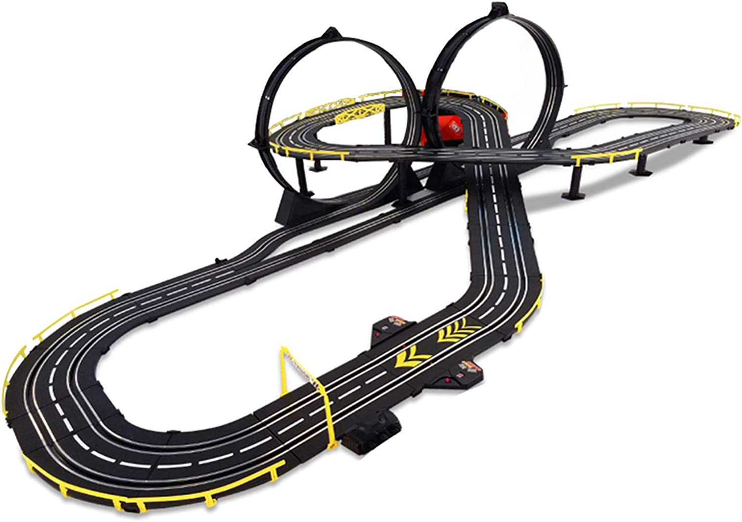 LINGLING Slot Car Race Tracks Manufacturer regenerated product Racing Electric Mesa Mall T Children's Track