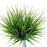 Mu Mianhua Lot de 10 bouquets de plantes artificielles en plastique pour décoration de maison, de table, de bureau, de mariage, de jardin, de véranda