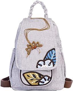 WCJ Fashion Oxford Cloth Shoulder Bag Ladies Embroidery Design Light National Style Travel Backpack