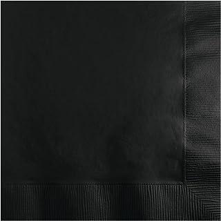 Creative Converting Beverage Napkins 120 Pack, One Size, Black Velvet