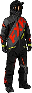 FXR Mens CX Lite Monosuit (Light Gray/Navy/Blue/Hi-Vis - Large)