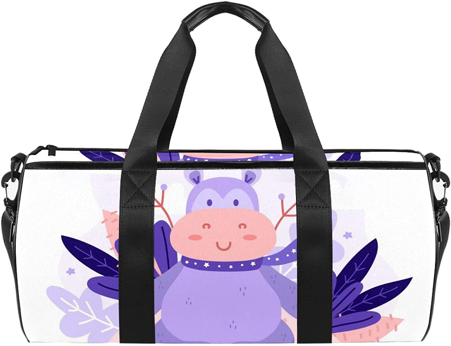 Sport Duffel Bag Max 61% OFF Cartoon Large discharge sale hippo Swimming Kids Weekend Gym