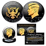 Here is your chance to own the BLACK RUTHENIUM EDITION 2019 JFK Kennedy Half Dollar U.S. Coin. To highlight the original coin design, the Merrick Mint has clad the coin in entirety in Black Ruthenium with the JFK Portrait on the coin obverse and reve...