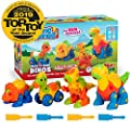Creative Kids Build & Learn Dinosaur Take Apart Toy Set with Tools Interlocking STEM Educational Building Construction Kit for Preschool, Kindergarten, Boys & Girls Age 3+