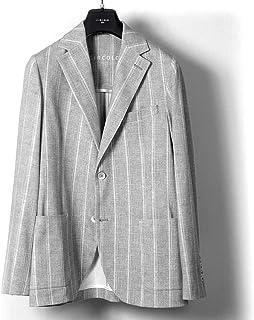チルコロ 1901 CIRCOLO 1901 / 【国内正規品】 / 20SS!製品洗いコットンストレッチライトジャージーストライプ2Bジャケット「CN2618」 (GRIGIO/ライトグレー) メンズ
