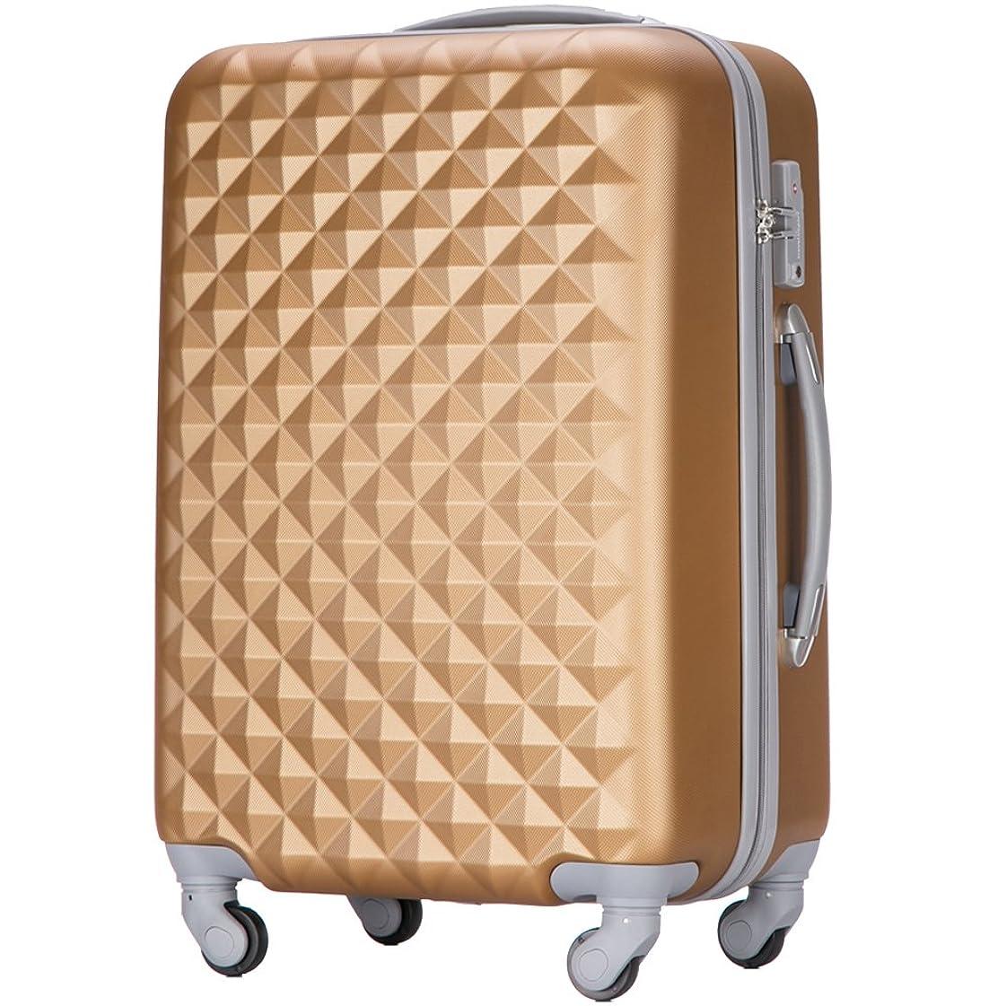 弾丸ライド全能(トラベルデパート) 超軽量スーツケース TSAロック付 ダイヤ柄