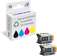 HOTCOLOR 10Pack LC75BK LC75C LC75M LC75Y for Brother LC-71 LC-75 LC-79 Compatible Ink Cartridge (4 Black 2 Cyan 2 Magenta 2 Yellow) MFC-J280W, MFC-J425W, MFC-J430W, MFC-J435W Printer
