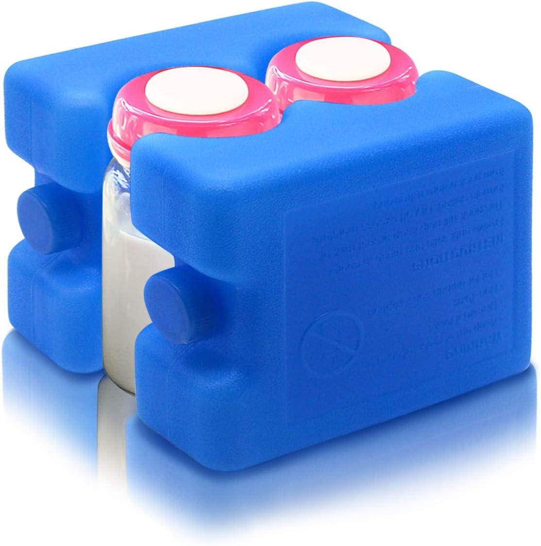 JMEXSUSS Reusable Ice Packs Freezer Packs for Breastmilk Storage,Cool Cooler Bag Baby Bottles(2 Pack) Lunch Breakfast