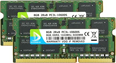 DDR3 RAM 16GB, DDR3 1333, PC3-10600, DUOMEIQI DDR3 16GB Kit (2X8GB) PC3L-10600S 8GB DDR3L-1333 sodimm 2Rx8 1.35v CL11 Notebook RAM Memory for Laptop Computer