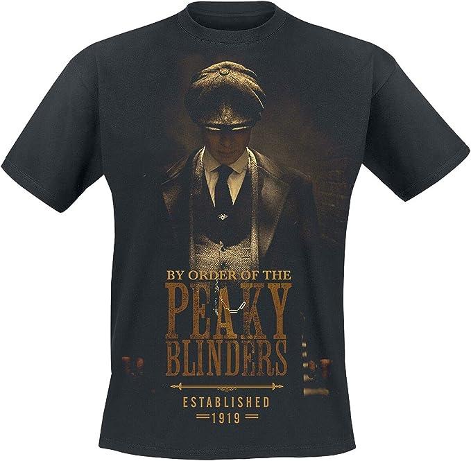 Peaky Blinders - Gangs Of Birmingham EST 1919 Hombre Camiseta Negro, Regular