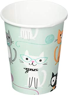 Creative Converting 328591 Purr-FECT Paper Cups Party Supplies, 9 oz, Multicolor