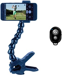 Swing Recording System  Clamp/Gooseneck Mount Cell Phone Clip Holder and Training Aid   Works with Any Smart Phone, Easy –...