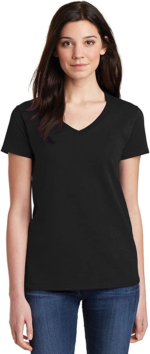 Gildan Women's Softstyle V-Neck T-Shirt - XX-Large - Black