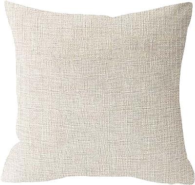 Watercolor Bohemia - Funda de almohada cuadrada de lino y ...