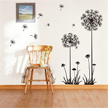 Heyuni. Wall Sticker Dandelion Stickers Removable Mural PVC Creative Home Decor Removable For Kids Home Living Room House Bedroom Bathroom Kitchen Office Home Decoration
