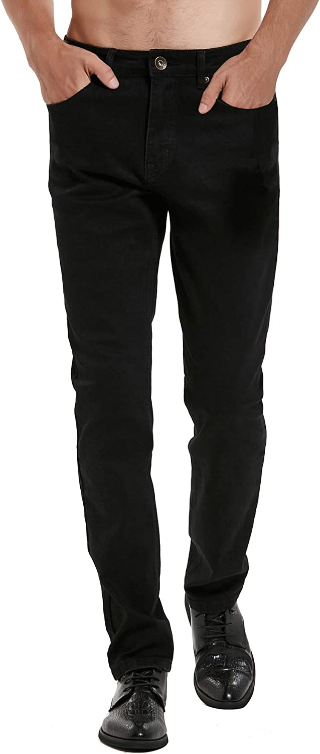 NITAGUT Ranking TOP4 Max 41% OFF Slim Fit Jeans Men's Fashionable Younger-Looking Colorf