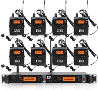 $559 » XTUGA RW2080 Whole Metal Wireless in Ear Monitor System 2 Channel 2/4/6/8 Bodypacks Monitoring with in Earphone Wireless Type Used for Stage or Studio Frequency902-928mhz (8 bodypack with Transmitter)