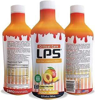 Sugar-Free Liquid Collagen & Whey Protein Supplement - Non-GMO Drink - Promotes Healthy Skin & Hair for Men & Women (Peach...