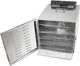 Déshydrateur de nourriture, plateau de 6 couches avec maille d'acier inoxydable et synchronisation de 24 heures et réglage...