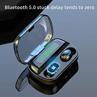 FairOnly Q82 Blueteeth Earphones Wireless Sports Earbuds Sweatproof Headphone Stereo Sound with 3500mAh Rechargeable Charging Compartment black Electronics