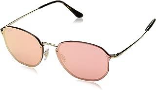 Ray-Ban RB3579N Blaze Hexagonal Sunglasses, Gold/Pink Mirror, 58 mm