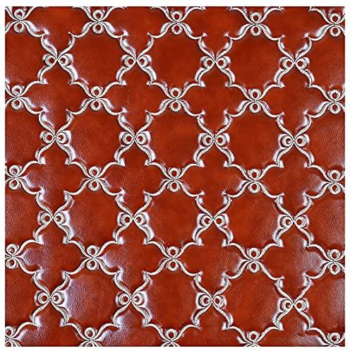 GERYUXA Tela De CuerPolipiel Cuero Sintético De Piel Sintética Ropa Ropa Tapicería De Cuero Material Texturizado, Auxilios para Sofá Asiento De Coche Muebles(Size:1.38x10m,Color:T6)