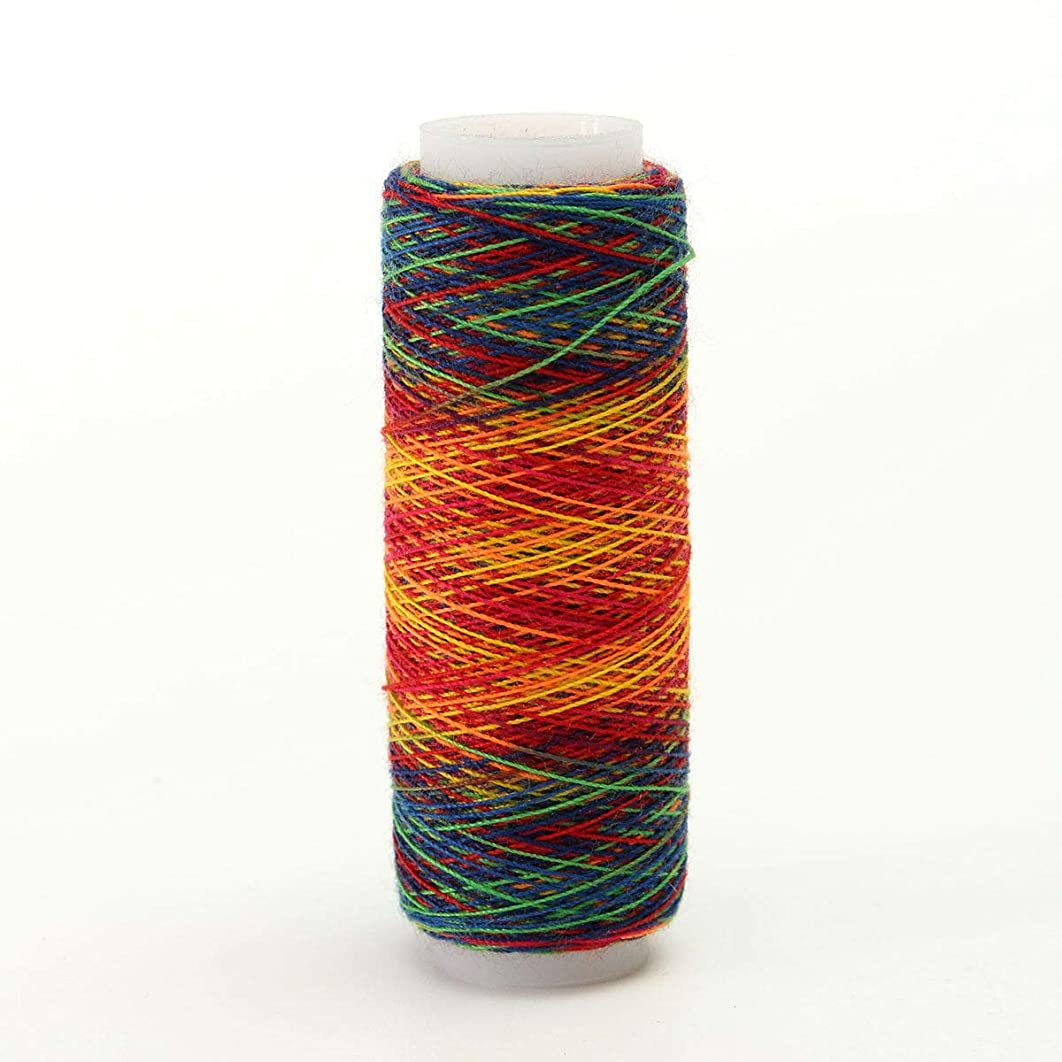 10pcs 110M Rainbow Waxed Sewing Thread Leather Hand Stitching Repair String Cord (Type: - #1)