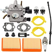 Trustsheer FS120 FS250 Carburetor Carb w Air Filter Repower Kit for Stihl FS200 FS300 FS350 FR350 FR450 FR480 String Trimmer Weed Eater Replace 4134 120 0653 4134 120 0603