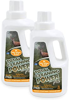 TCP Hunter's Laundry Detergent, No Scent, 64 fl oz. (Two 32 oz Bottles), Made in USA, Total Cleaning Power Formula (Neutral pH - 7.5)