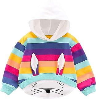 K-Youth Sudadera con Capucha Niña Otoño 0-3 Año Arcoiris Orejas Conejo Recien Nacido Ropa Bebe Niña Invierno Chandal Bebe ...