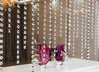 comprar comparacion 10 x 1m Guirnalda con Colgantes de Cristal Acrílico Clear octogonal de acrílico del grano Garland decoración de boda Corti...